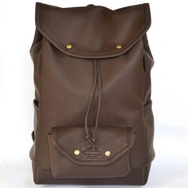 sötétbarna rolltop hátizsák