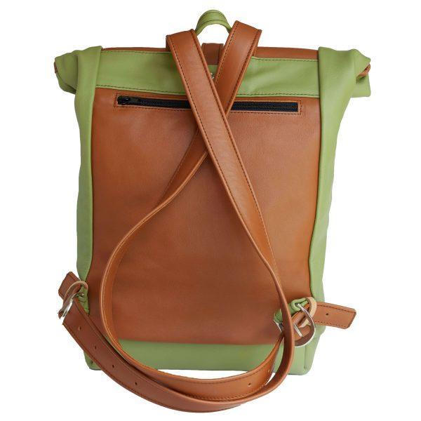 zöld rolltop hátizsák