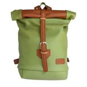 olivazöld rolltop hátizsák