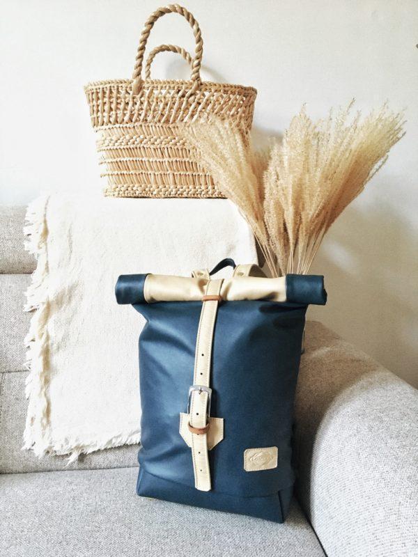 egyedi kézzel készített bőr hátizsák
