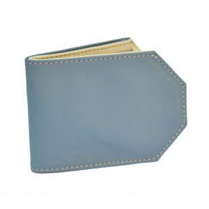 puha bőr unisex pénztárca kék