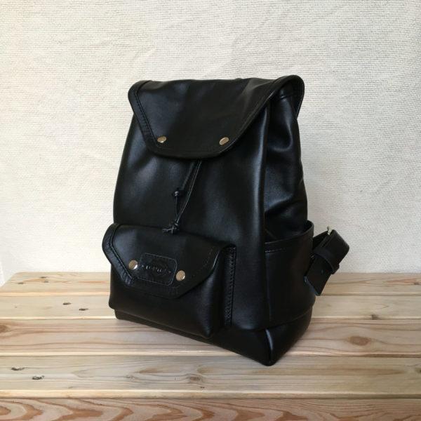 valódi bőr fekete hátizsák