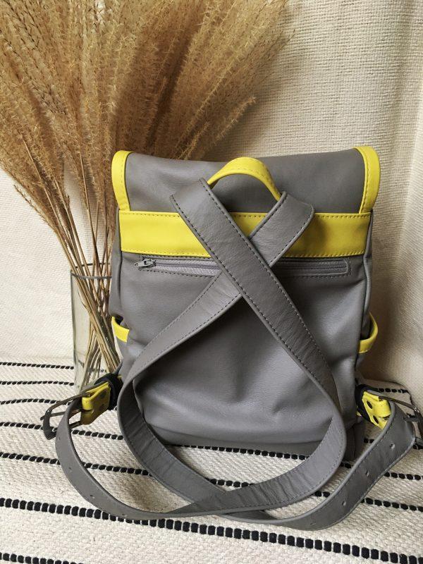 szürke elegáns bőr hátizsák