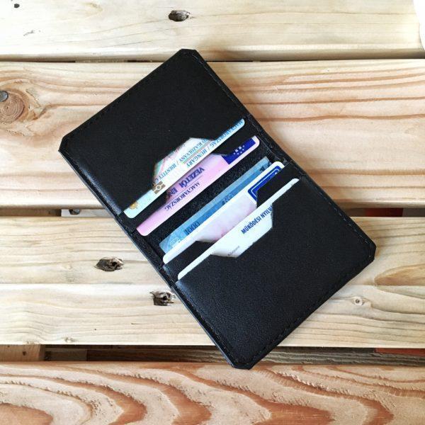 egyedi,praktikus,bőr, kézzelkészített kártyatartó