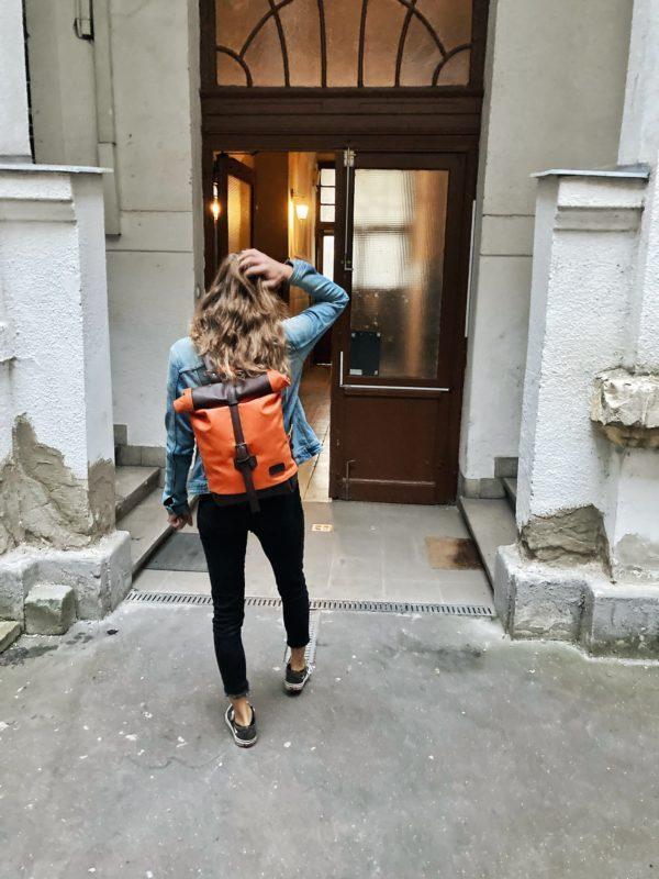 kézzelkészített unisex bőr hátizsák